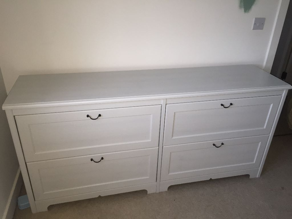 Ikea White Grey Chest Of Drawers In Swindon Wiltshire
