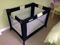 Travel cot suitable for child up to 3yrs old