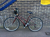 Adult Bike including helmet, lights, locks