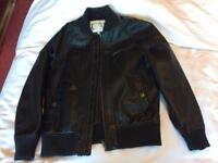 Marks and Spencer black leather look jacket age 9-10 yrs