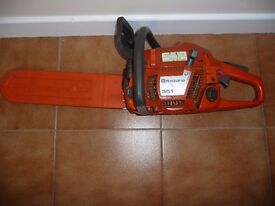 "husqvarna 351 chainsaw with 15"" chain bar"