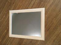Pine frames mirror