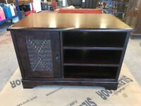 Wooden cabinet, ideal TV stand or stereo housing.