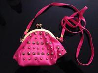 Brand new pink small handbag long shoulder strap
