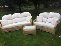 Wicker / cane / conservatory / furniture set