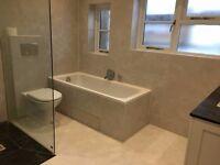 Twelve 60cm x 60cm beige tiles