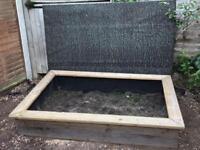 Sandpit or raised vegetable bed