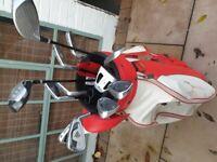 Dunlop set golf clubs with bag