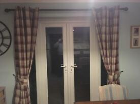Dunelm Balmoral Red Curtains