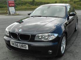 BMW 120D SPORT, 2006 '56 REG, TURBO DIESEL, 6 SPEED, FSH, ALLOYS, CLIMATE A/C, CRUISE, SUPERB, CLEAN