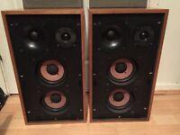 Vintage German-made SABA Hi-Fi speakers. 4 Ohm. 30-40w. Made in W. Germany. HiFi.