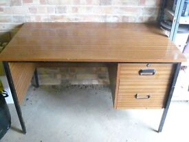 Wooden desk with metal legs- OPEN TO OFFERS!