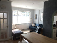 A 2 bedroom garden flat 700m from both Barnes railway stations. Furnished and available imediately.