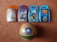 Doctor Who Top Trumps Collection inc. very rare Dalek 50th anniversary tin set