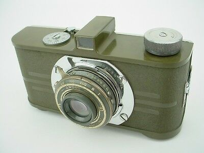 Vintage Argus A Military Army Green Camera with Anastigmat F/4.5 Art Deco-Rare !