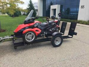 Stinger Trailer for a Can-Am Spyder! Stinger Folding Motorcycle Trailer - Free Shipping!