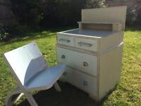 Art Deco Child's Chest of Drawers and Chair - Shabby Chic