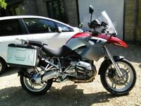 BMW R1200GS Red and Silver, Very low mileage, one owner since 2005, always garaged, VGC.