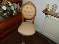 Light Oak/Pine Spoon back style Bedroom/Chair (Comber) £25