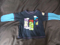Boys 18-24 Month Tops X 6 All Six Tops For Only £1.00
