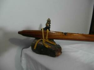 This beautiful handcrafted Native American Style Flute is  tuned Earth Tone 432 hz to the Key of F  Totem Buddha