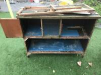 Free rabbit hutch in need of repair Greasby must come today