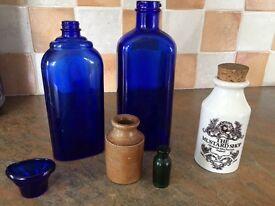 Old bottles & Pot Lord Nelson Pottery Colmans Mustard Shop