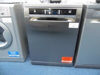NEW GRADED INOX HOTPOINT DISHWASHER REF: 13037