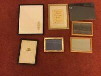 Bundle of 7 Photo Frames