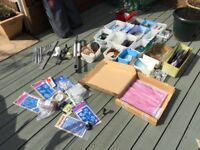 Stained glass, materials and tools, to make stained glass item