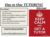 Primary school tutor 1-2-1