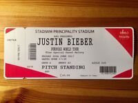 *FACE VALUE* Justin Bieber Pitch Ticket Cardiff