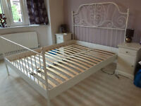 king size ikea bed frame white