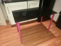 Black Glass table/desk