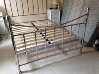 Bedstead - Polished Metal Frame
