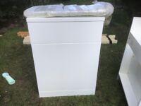 Gloss White WC Bathroom Unit