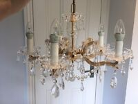 Marie Therese Chandelier 5 Light made with Swarovski crystals (pair available)