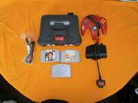 FOR SALE Nintendo 64 with all lead expansion pack and 3 games