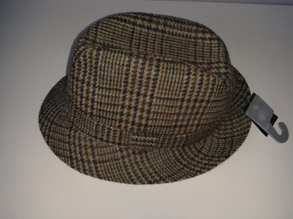 Pure New Wool Classic Country Trilby Hat. Unused with tags  00dcaa22c6ec
