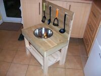 Mud Kitchen wooden outdoor/indoor use