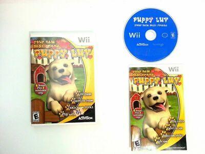 Puppy Luv (Nintendo Wii, Wii U) GAME COMPLETE CHOOSE DOG TEACH TRAIN PLAY - Puppy Luv