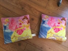 Two Disney princess cushions for kids - great value for money