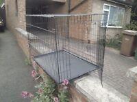 black XL dog cage 2 door