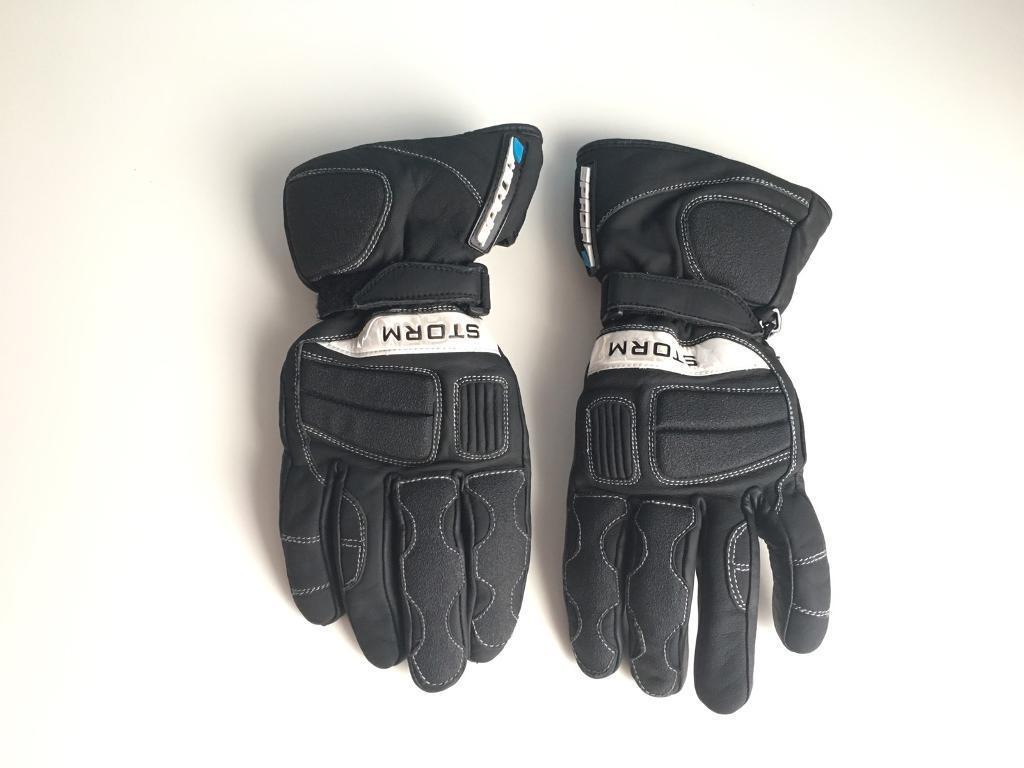 Motorcycle leather gloves waterproof - Spada Motorcycle Leather Gloves Storm Waterproof Black