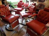 Belmont Barbers Chairs Original 1950's