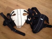2 x babybjorn carriers - black and cream