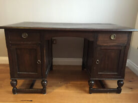 Elegant hard wood bureau desk