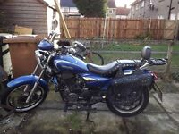 Lexmoto WF61YGW Ranger 125cc Cruiser Motorbike, just passed MOT, with saddlebags & Extras