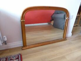 Large overmantle or wall mirror