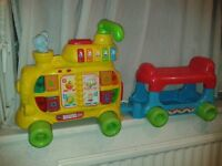 vtech alphabet sit to stand train toy